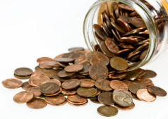 Pennies clipart jar penny. War statesboro food bank
