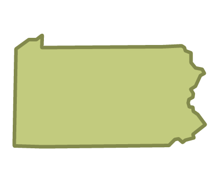 Pennsylvania outline png. Movement advancement project state