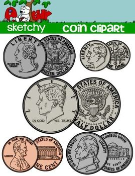 Penny clipart obverse. Us coin money math