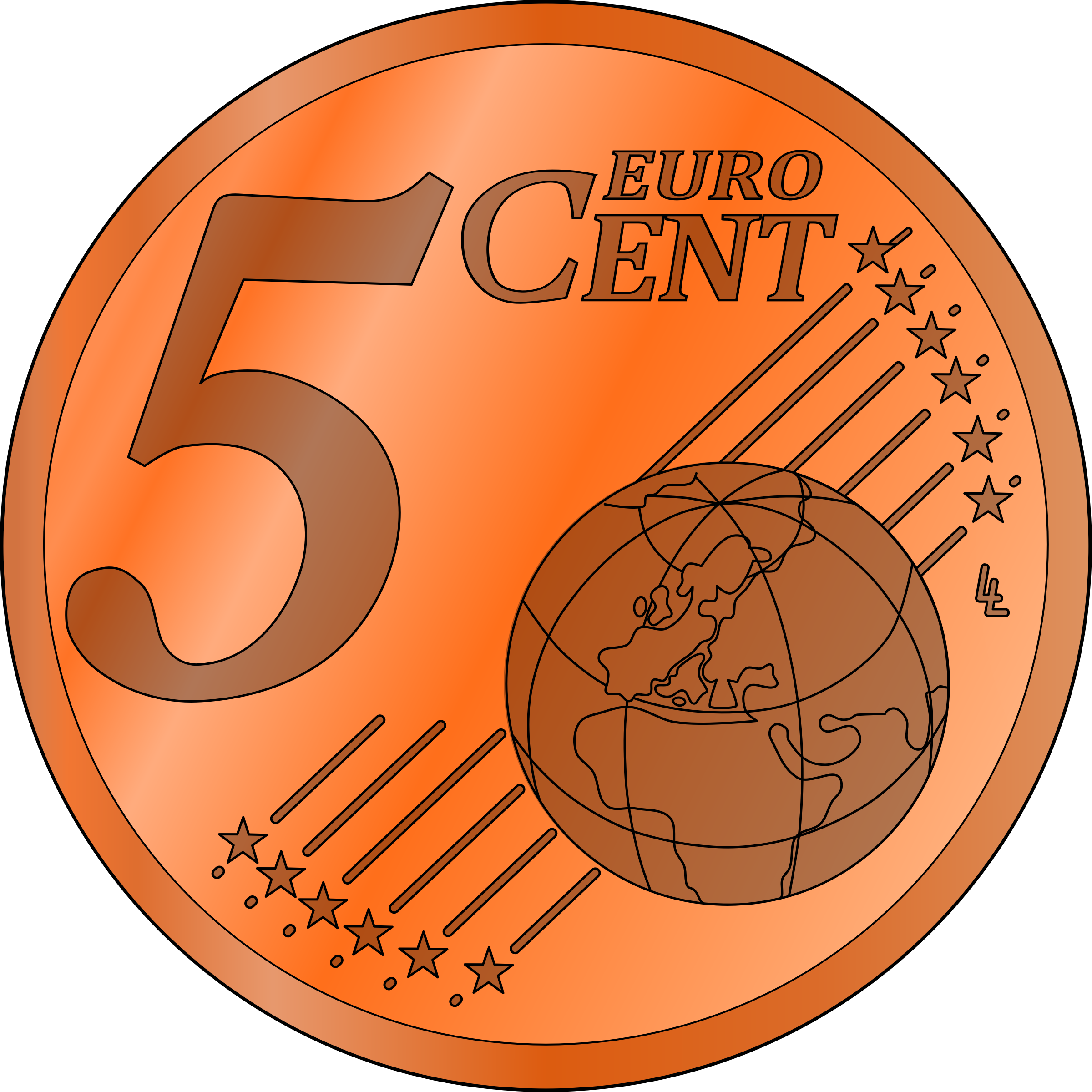 Penny clipart png. Five euro cent big
