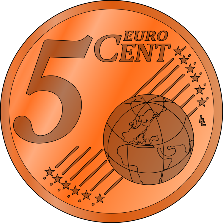 5 cents png. Cent euro coin