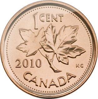 Penny transparent currency. Canada drops from its