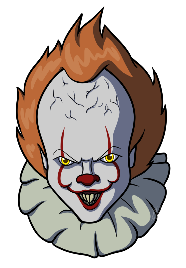 Pennywise face 2017 png. By araghenxd on deviantart
