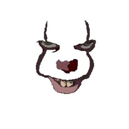 Pennywise face 2017 png. It roblox