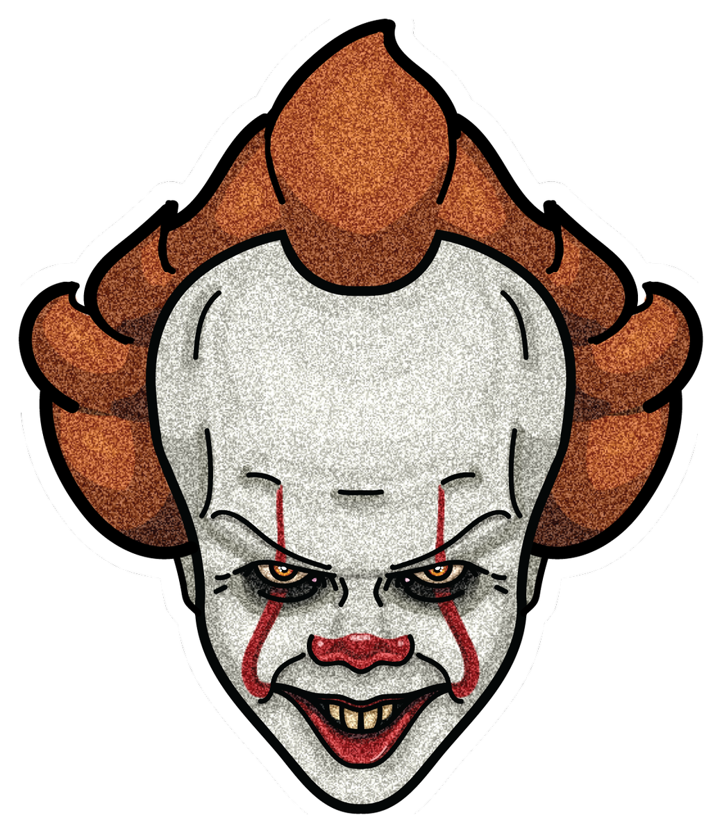 Pennywise face 2017 png. Wukong designs wukongdesigns twitter