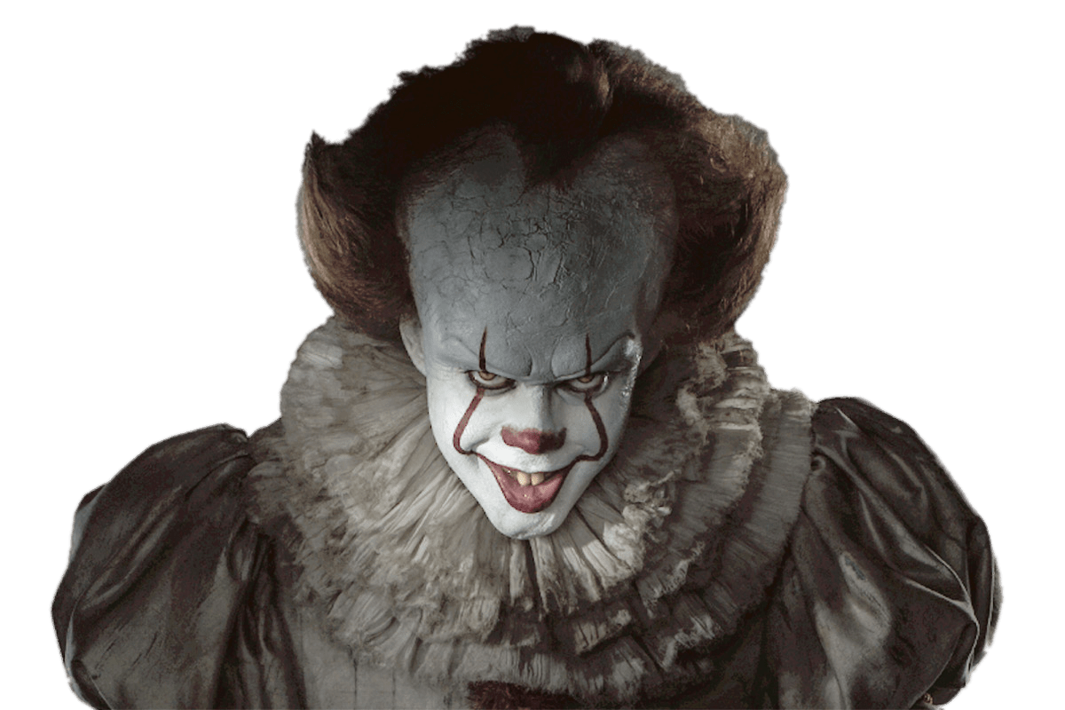 Pennywise png. It close up transparent