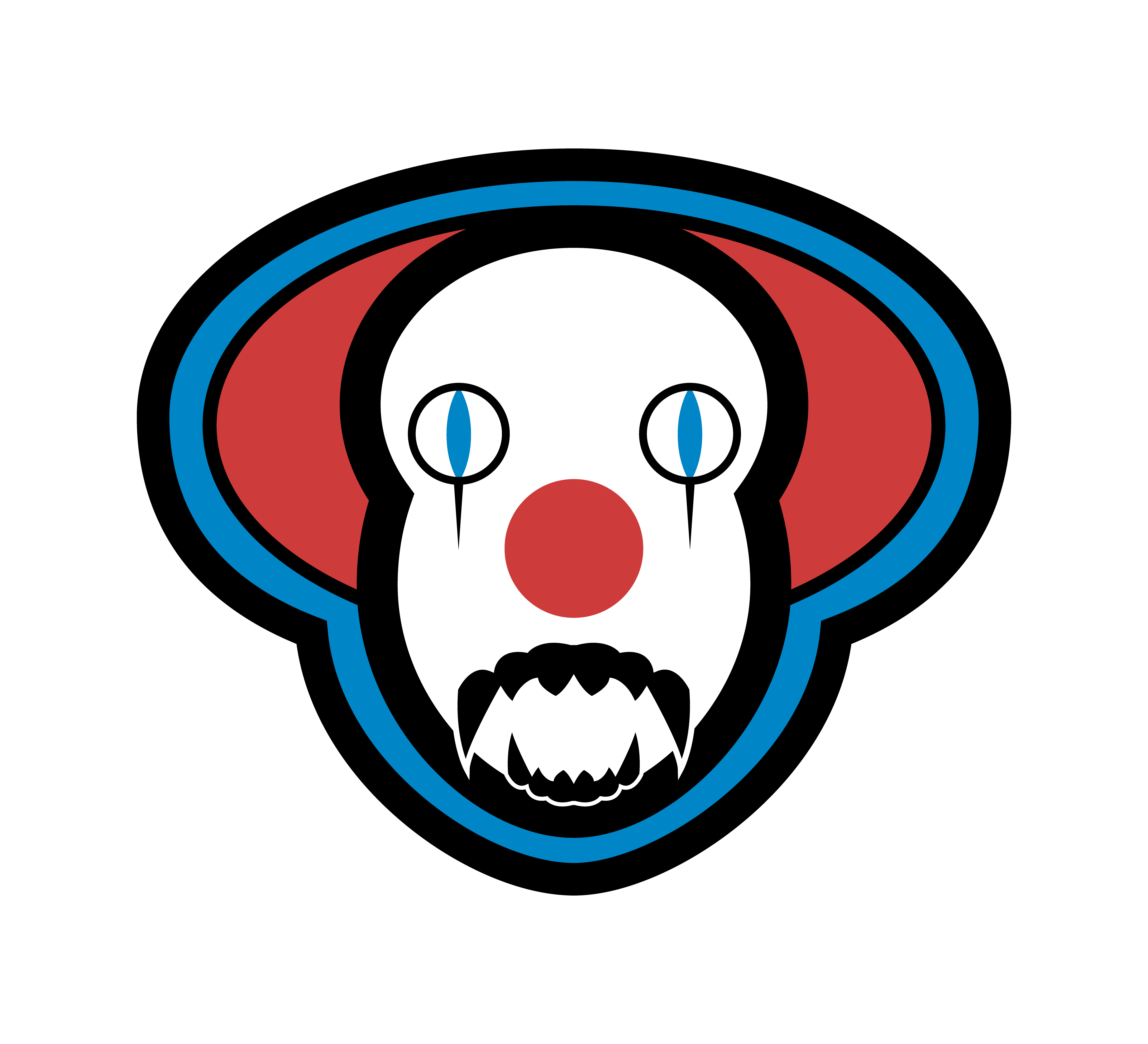 Pennywise the clown drawing png vector. Inspired by it aka
