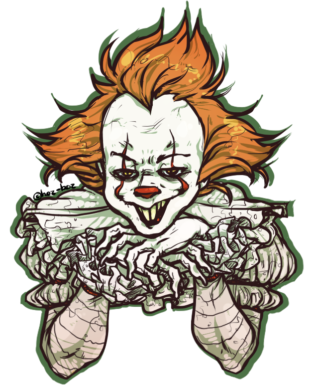 Pennywise the clown drawing png vector. Pin by shea butter