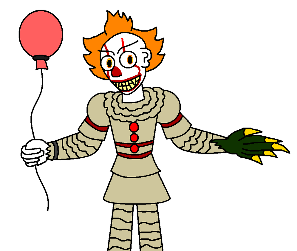 Pennywise the clown drawing png vector. Cartoon dancing www miifotos