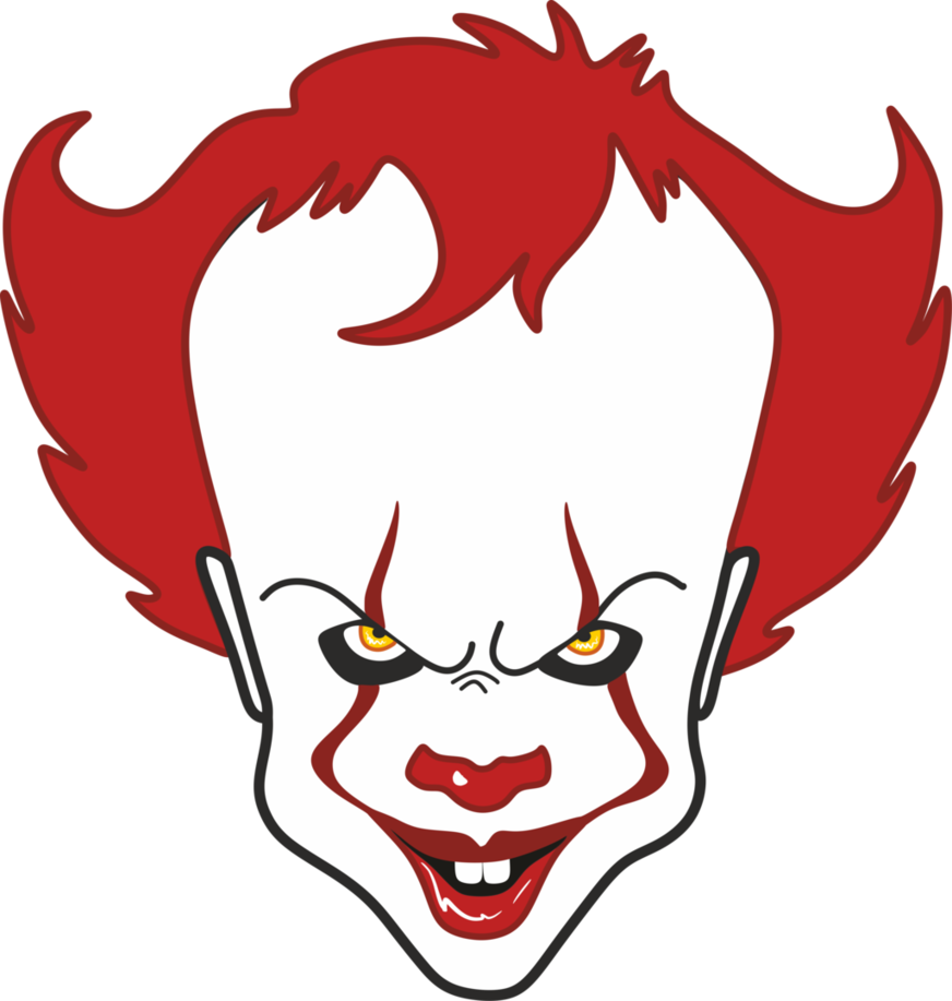 Pennywise the clown drawing png vector. Pin by randy mcpherson