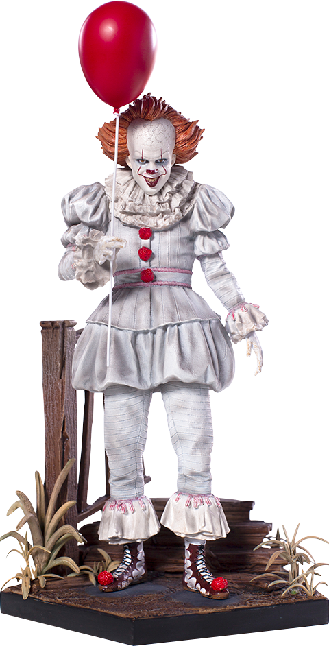 Pennywise png. It deluxe statue by