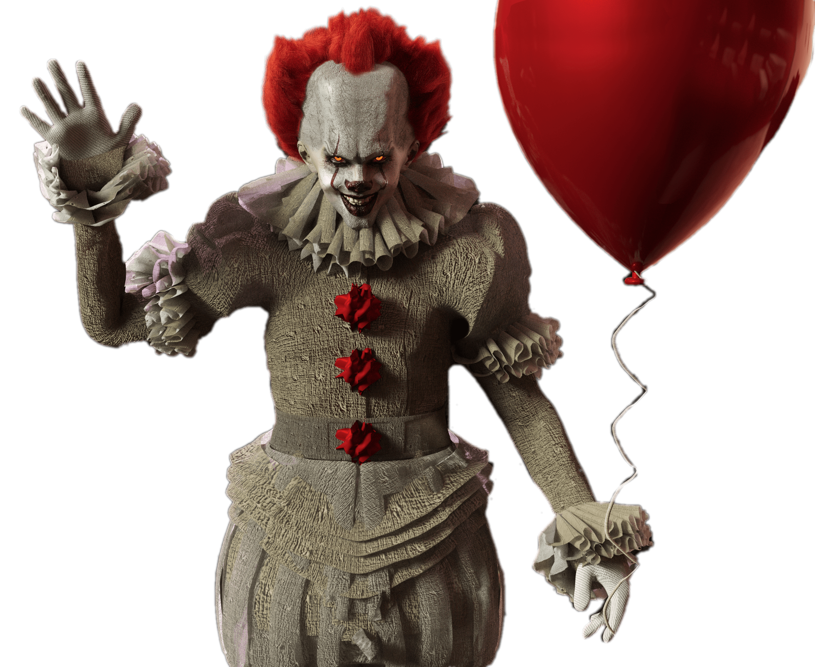 Pennywise png. It with red balloon