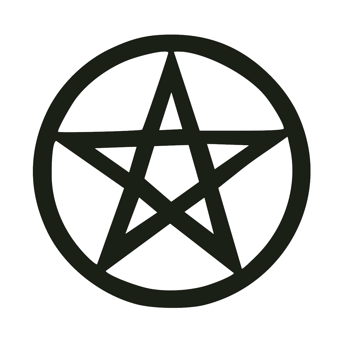 Pentacle transparent. Png image with background