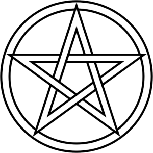 Tarot drawing symbol. The pentacle prophet spiritual