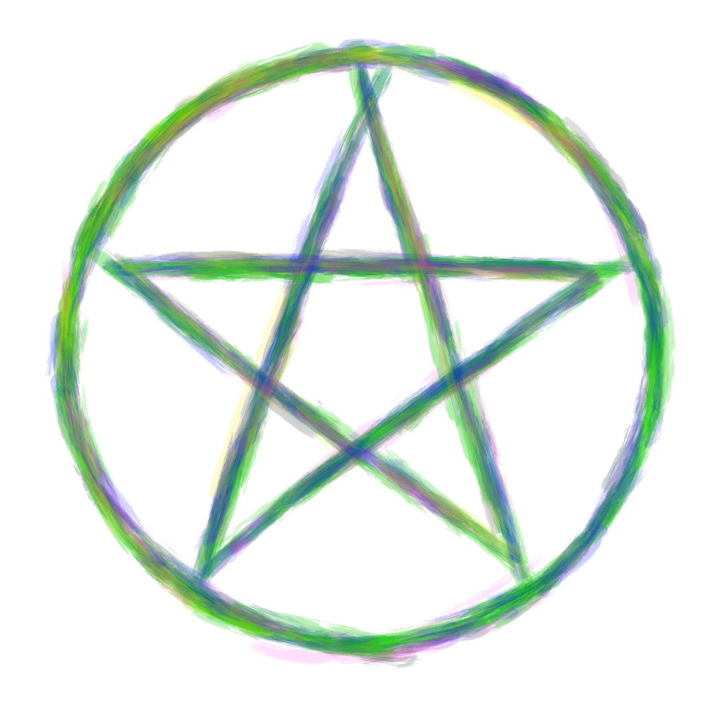The pentagram wicca for