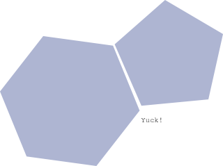 Pentagon vector hexagon. Inkscape joined and with
