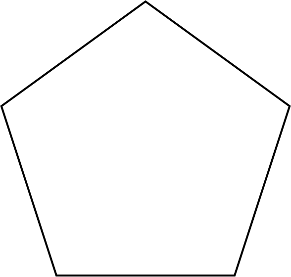 Pentagon vector head. File svg wikimedia commons
