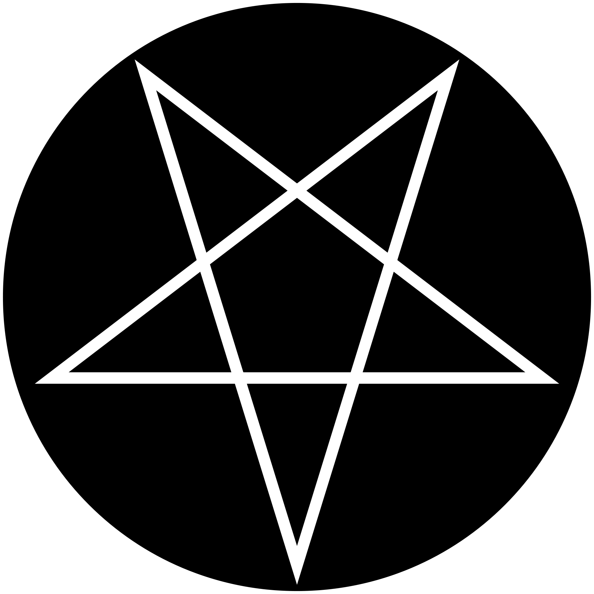 Pentagram png. File inverted wikimedia commons