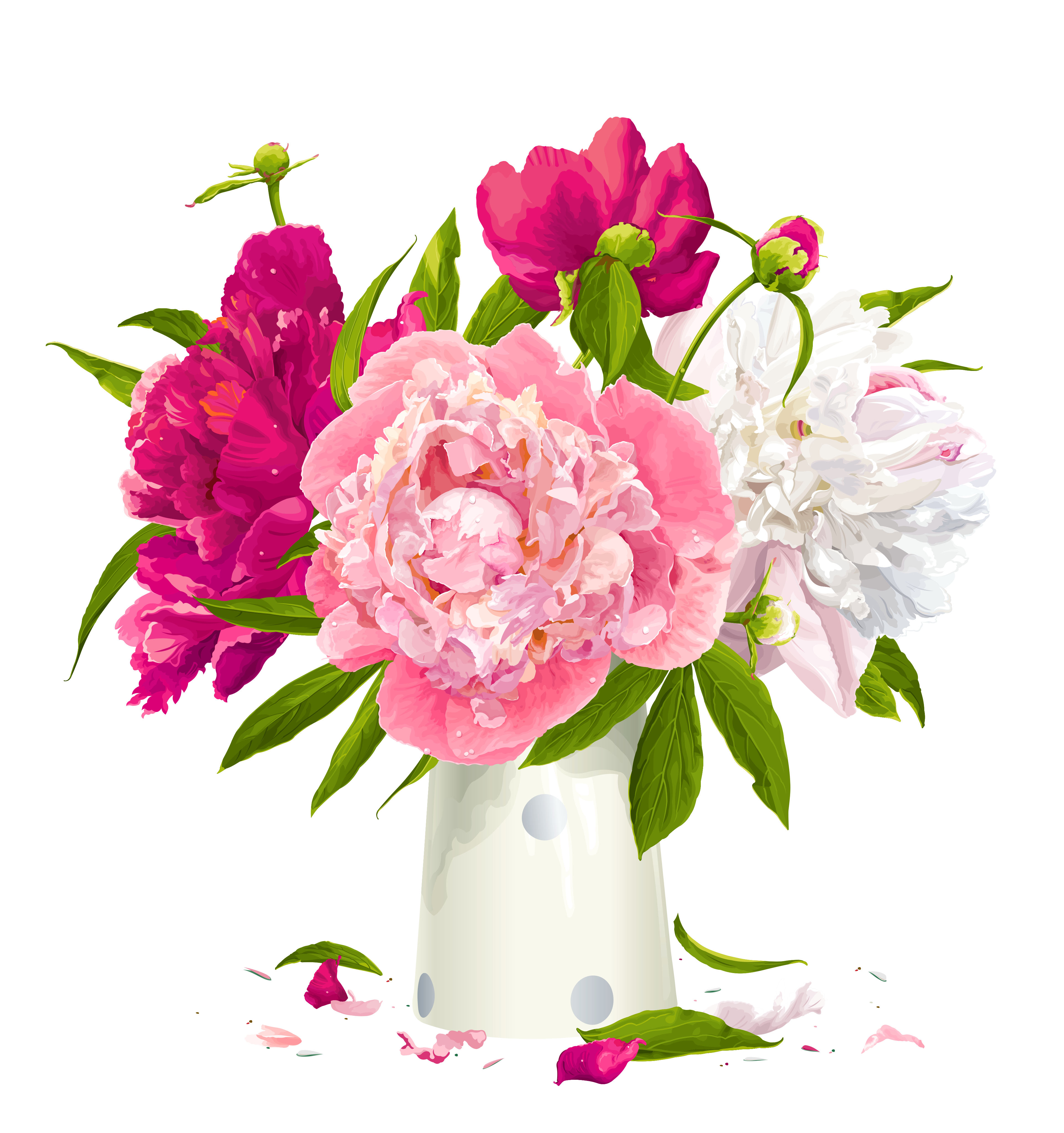 vase clipart flower bouqet