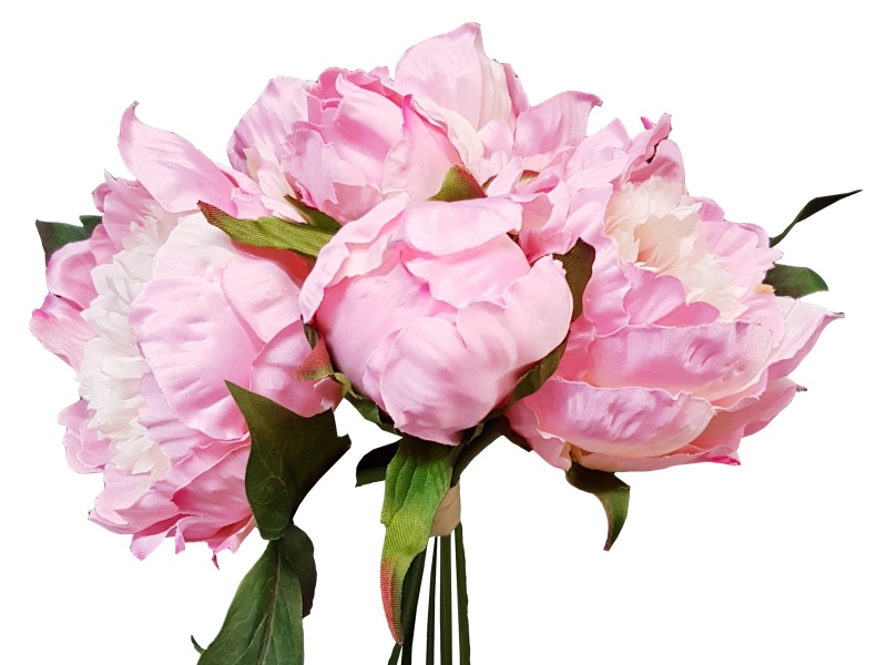 Peony bouquet png. Flowers silk wedding bouquets
