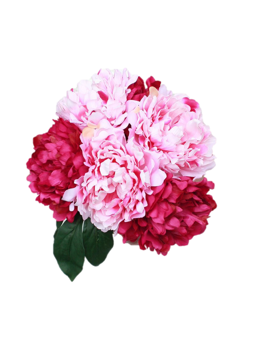 Peony bouquet png. Silk in two tone