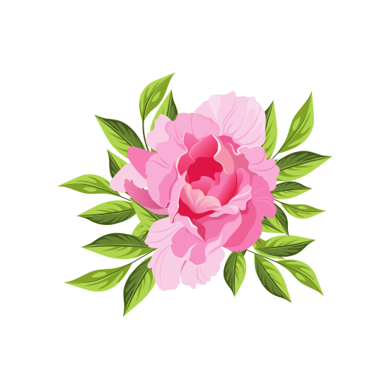 Peony clipart hand drawn. Icons for just about