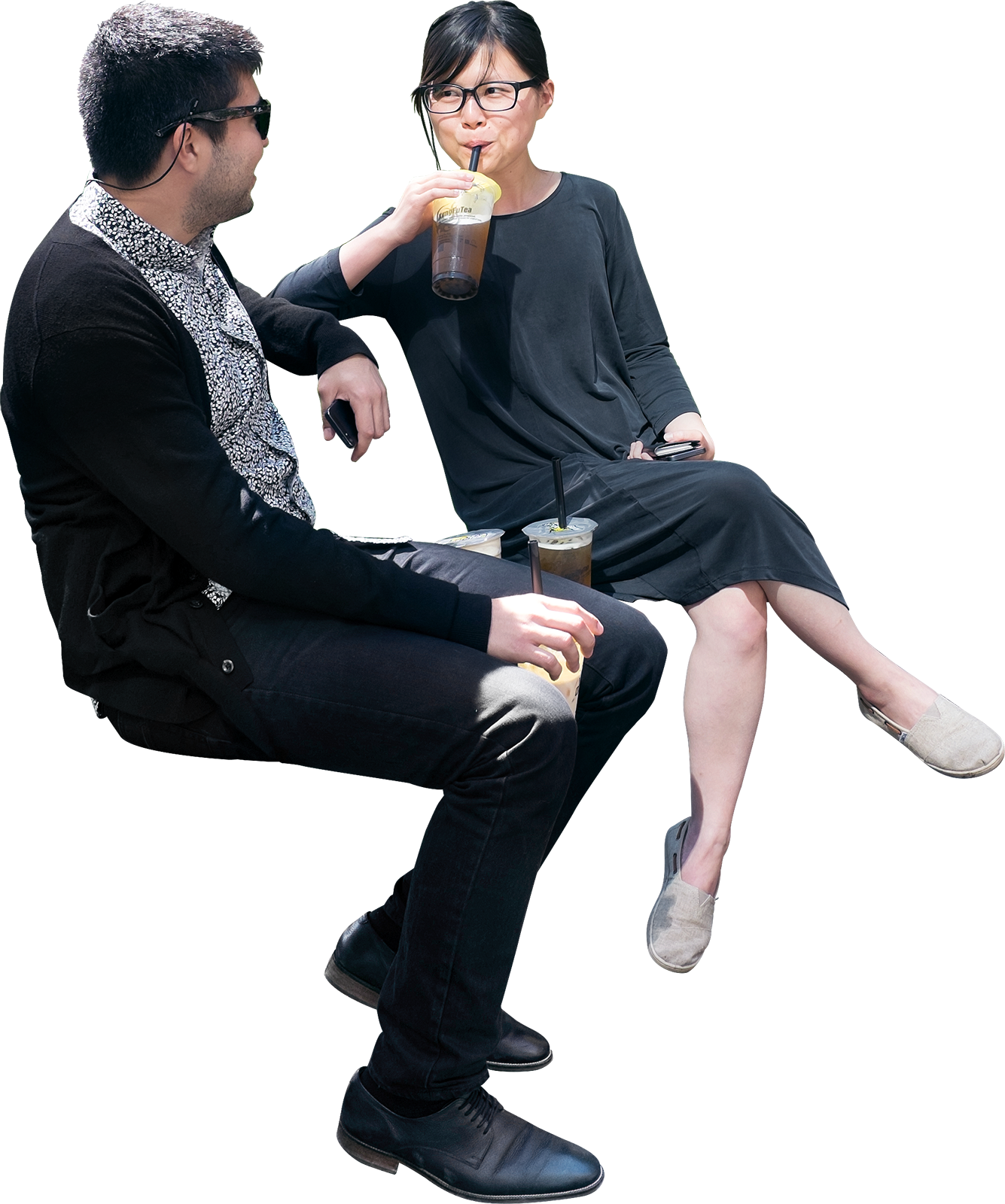 people sitting at a table png