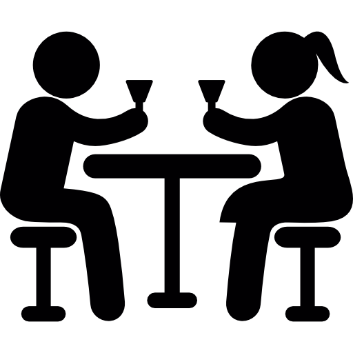 Couple drinking png. Icon page svg
