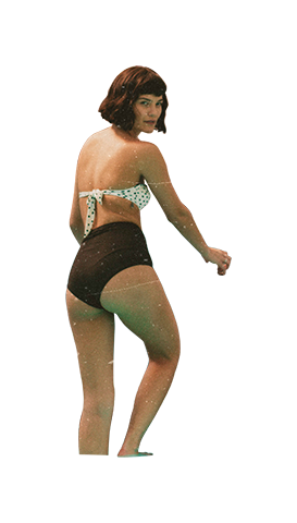 People at pool png. Woman climbing out of