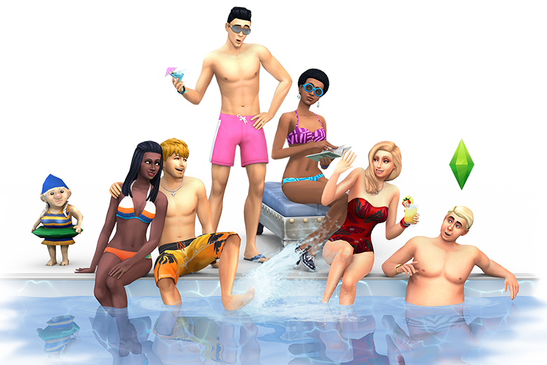People at pool png. The sims new full