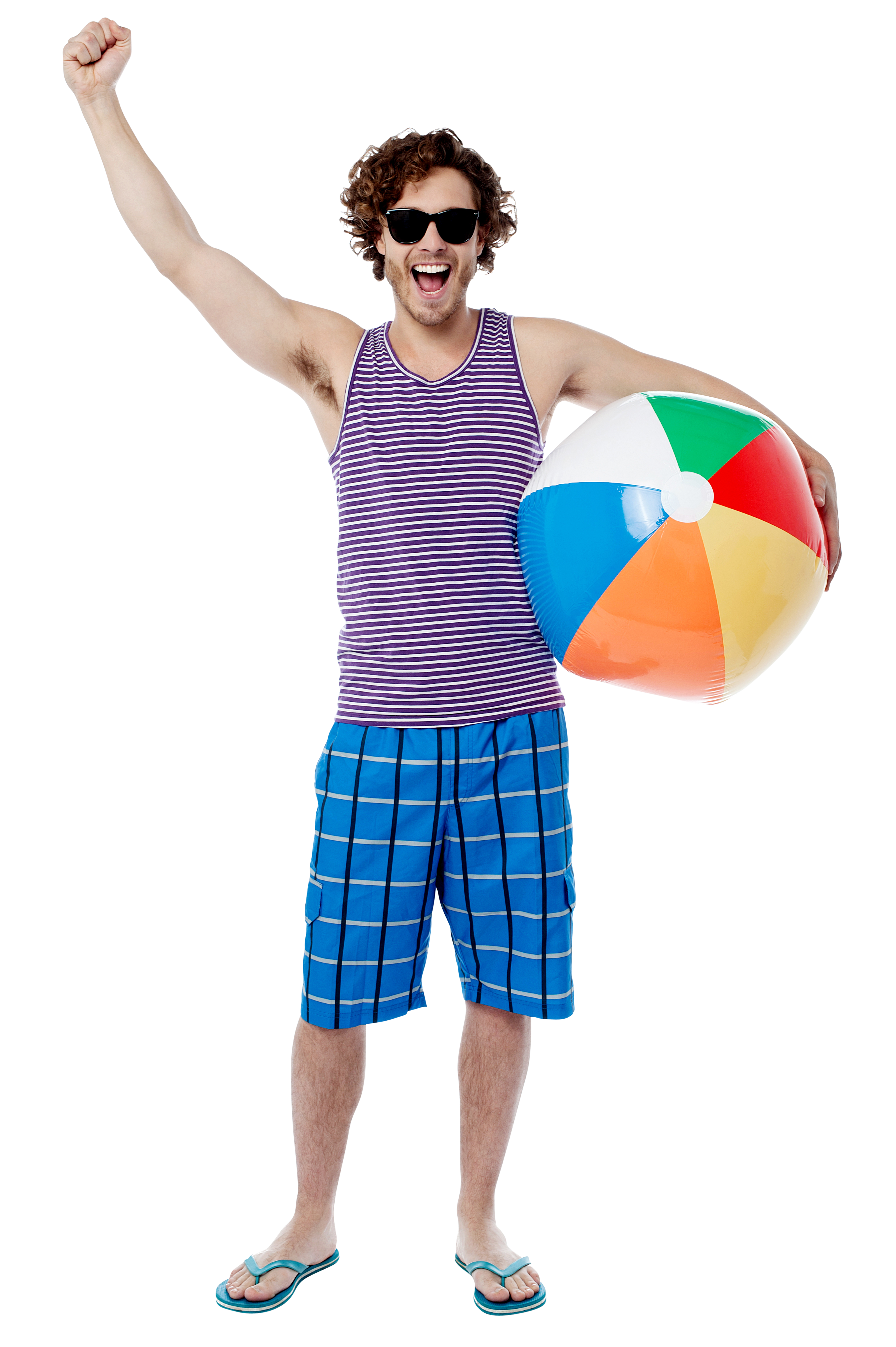 People beach png. Men with ball image