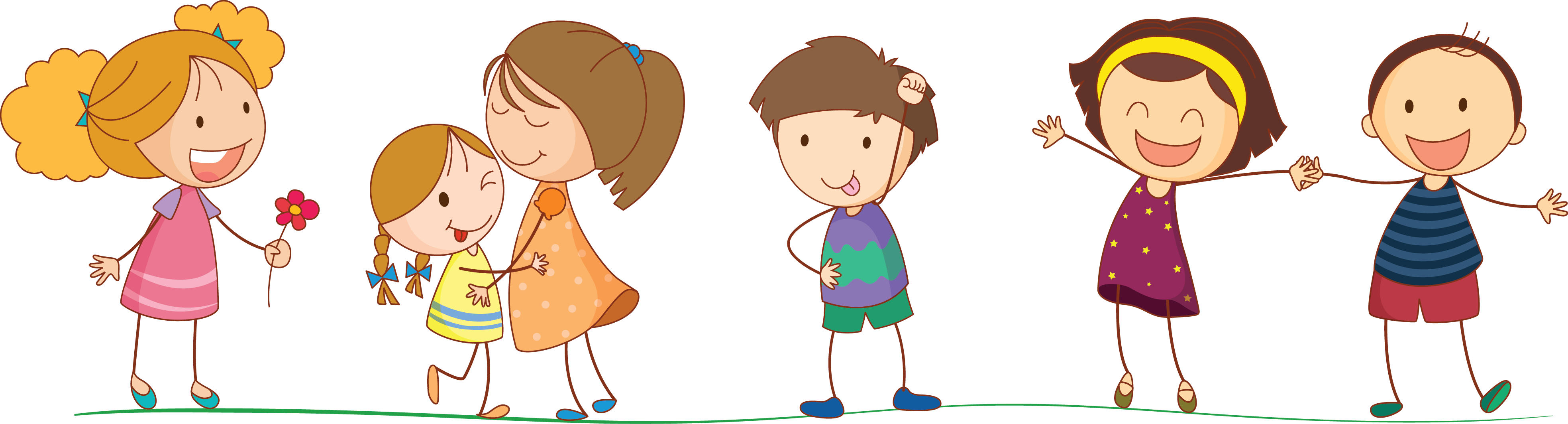People cartoon png. Kids transparent pictures free