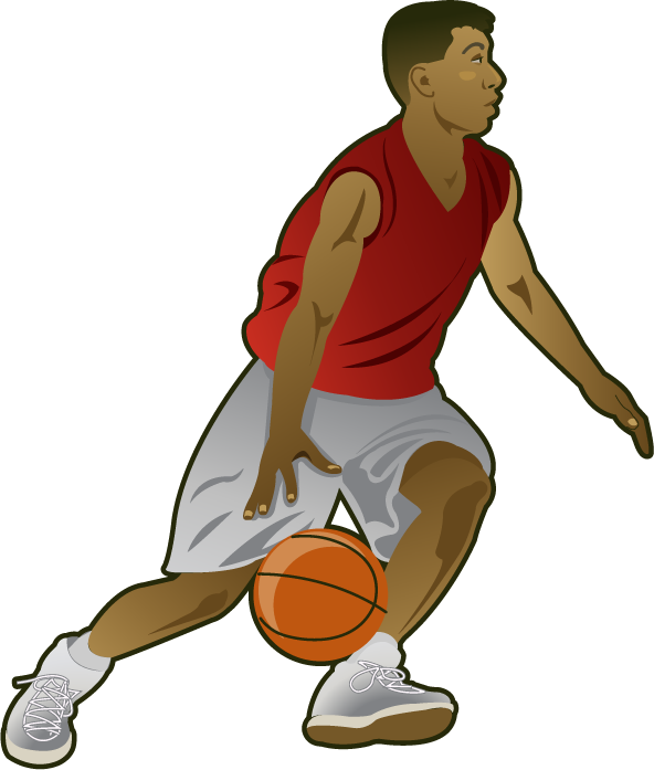 People clipart basketball. Playing