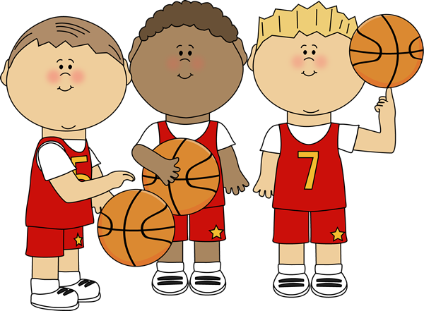 Drawing sport boys basketball. Boy players clip art