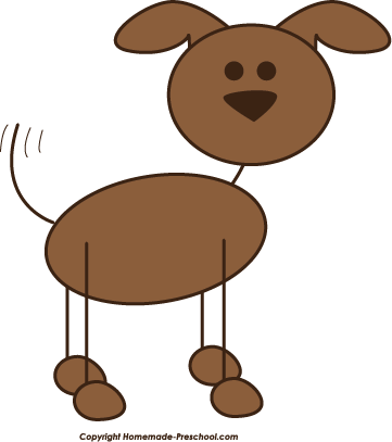 People clipart dog. Stick