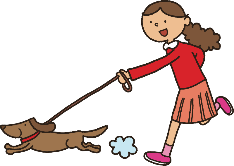 Walking the medium image. People clipart dog graphic black and white library
