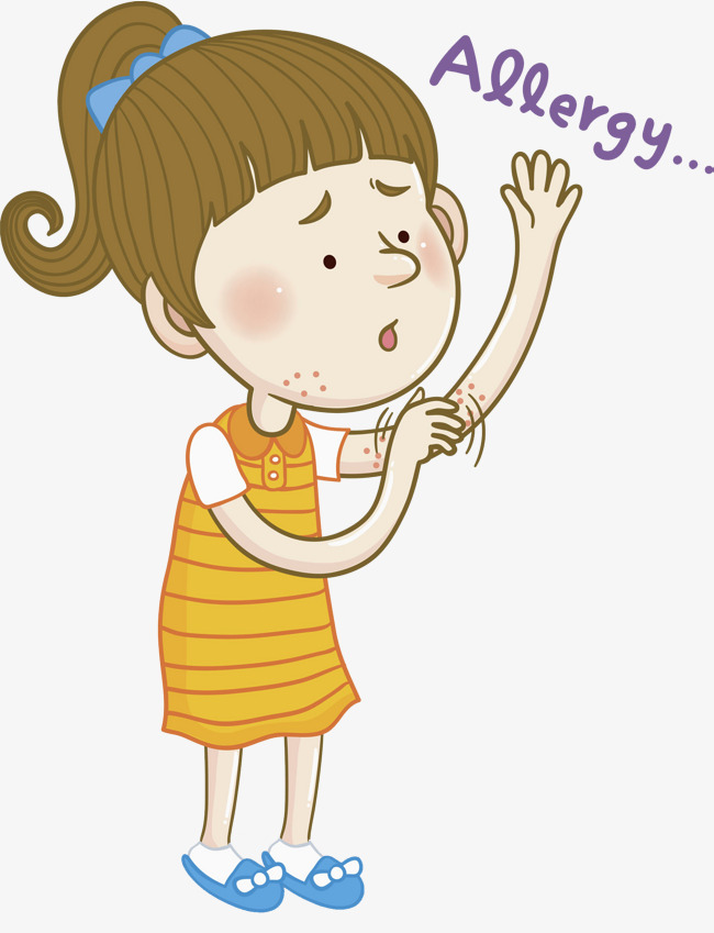 People clipart itchy. The itching girl yellow