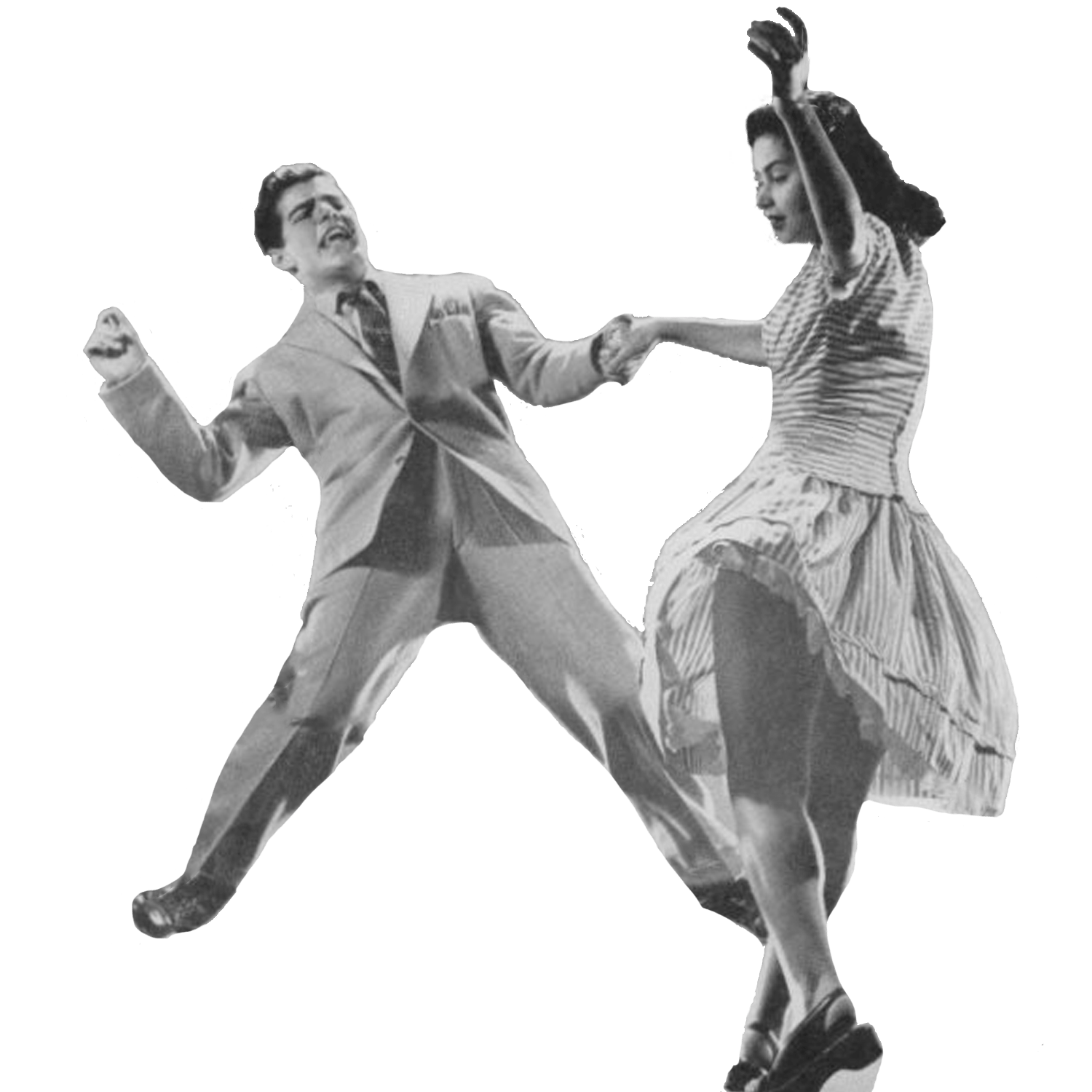 People dance png. Vintage dancers transparent stickpng