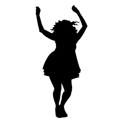 People dancing silhouette png. Woman design transparent svg