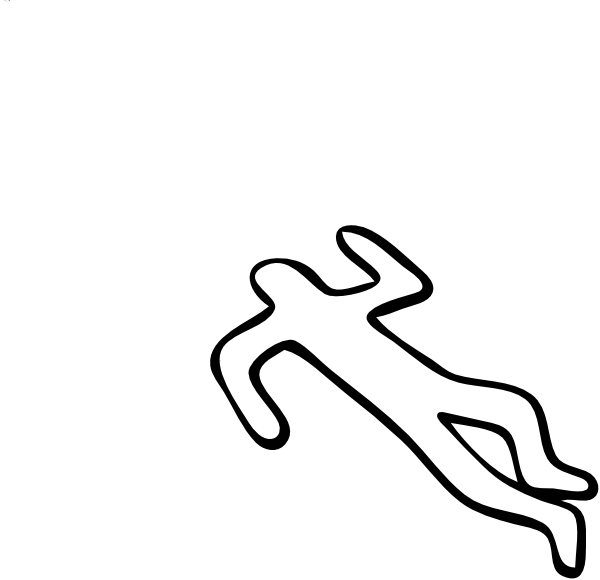 Dead body outline png. Person silhouette at getdrawings