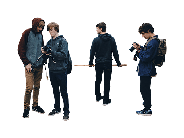 People group png. Of male student photographers