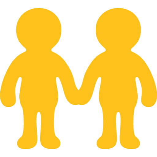 People holding hands png. Two men emoji for