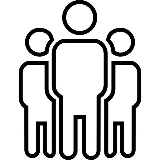 People icon drawing chalk png. Three outline person outlined