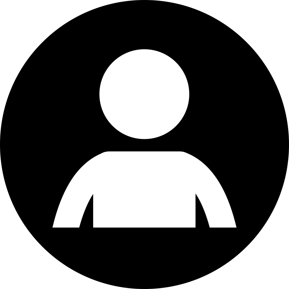 People icons png. Person round svg icon