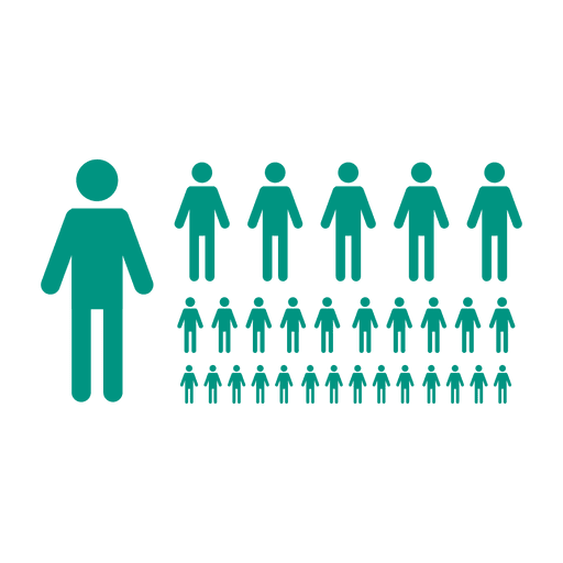 People in line png. Green flat symbol transparent