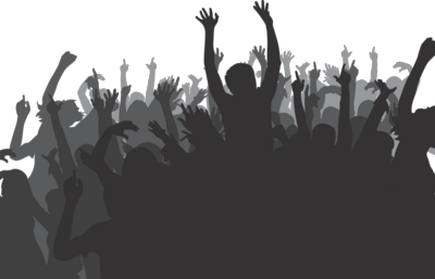 Crowd transparent party. With people clipart free
