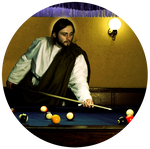 People playing pool png. Jesus by mictk on