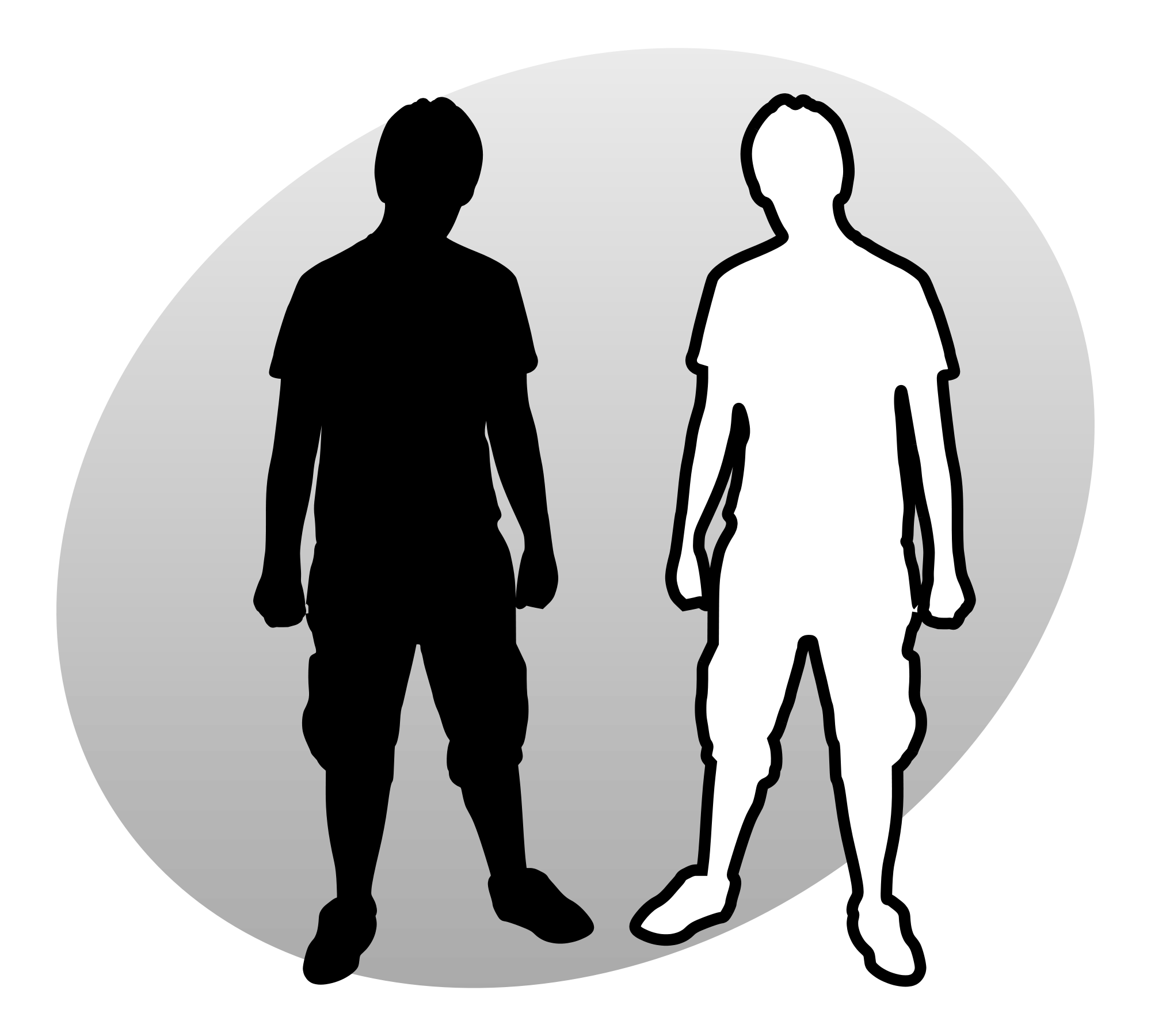 People png black and white. File p grey svg