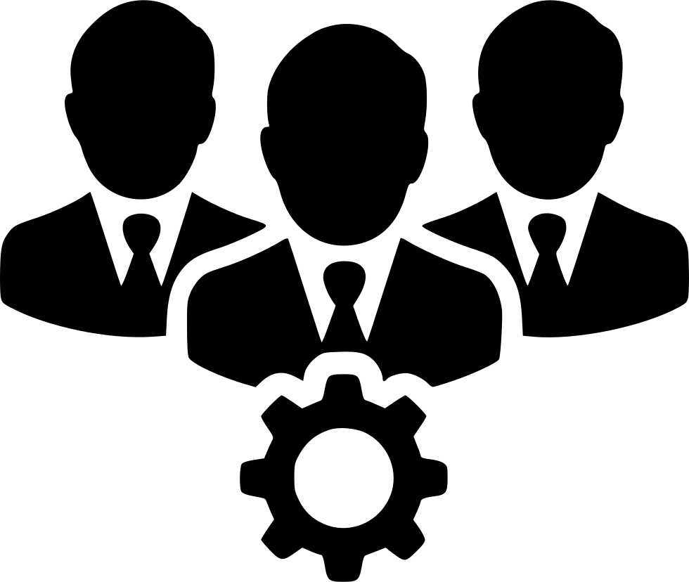 People png icon. Teamwork users gear svg