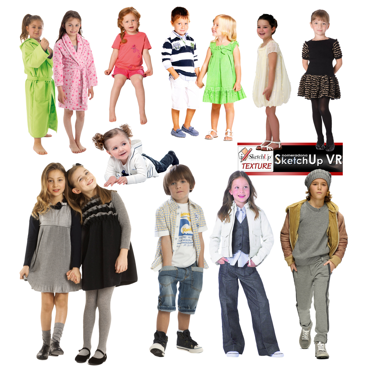 People .png. Sketchup texture cut out